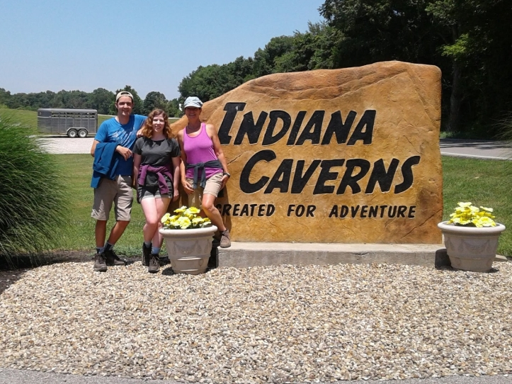 Indiana Caverns, A Girl on Her Own, Caving